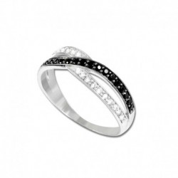 Bague or 375/1000 oxydes