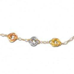 Bracelet or 375/1000 tricolore
