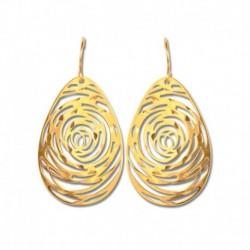 Boucles d'oreilles or 375/1000 fantaisie