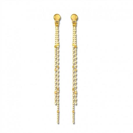 Boucles d'oreilles or 375/1000 pendants