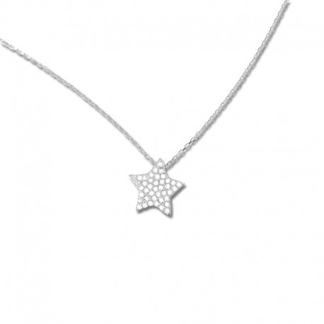 Collier or 375/1000 oxydes bicolore