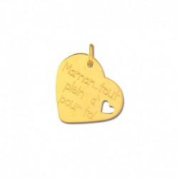Pendentif or 375/1000 cœur