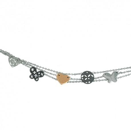 Bracelet acier tricolore