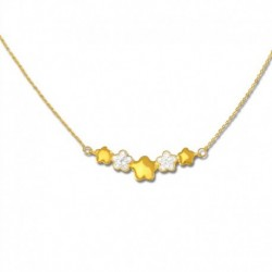 Collier or 375/1000 cristal