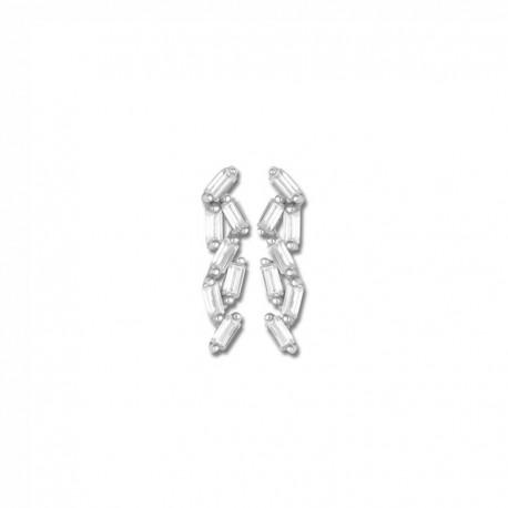 Boucles d'oreilles or 375/1000 oxydes