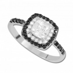 Bague or 750/1000 oxydes
