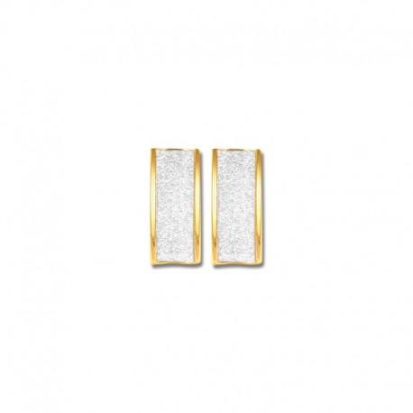 Demi créoles or 750/1000 glitter