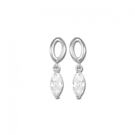 Boucles d'oreilles or 750/1000 oxydes