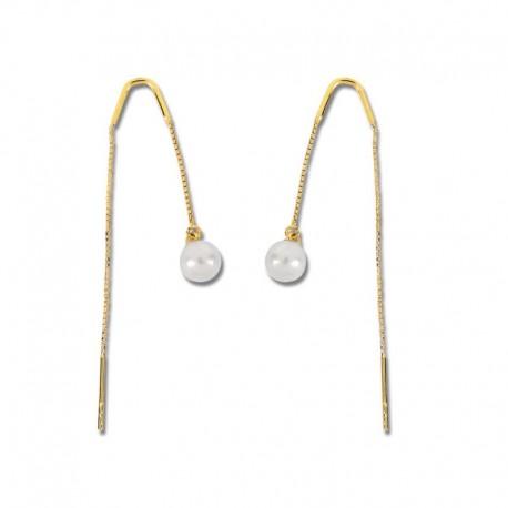 Boucles d'oreilles or 750/1000 perles de culture
