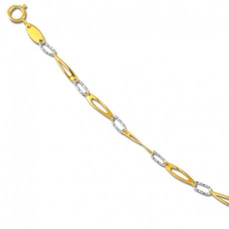 Bracelet or 750/1000 bicolore