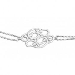 Bracelet argent arabesque oxydes