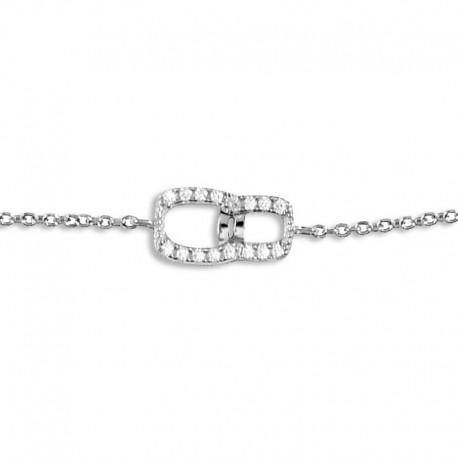 Bracelet argent motif huit oxydes