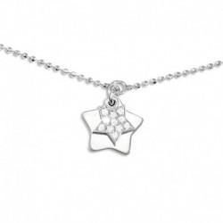 Bracelet argent étoile oxydes