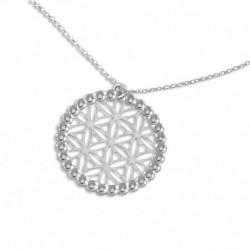 Collier argent cercle arabesque