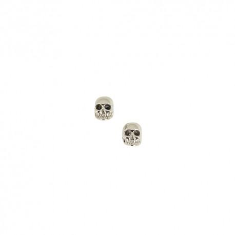 Boucles d'oreilles acier tête de mort