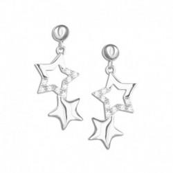 Boucles d'oreilles argent étoiles oxydes