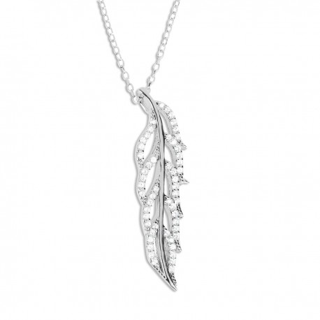 Collier argent feuille oxydes