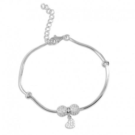 Bracelet argent oxydes