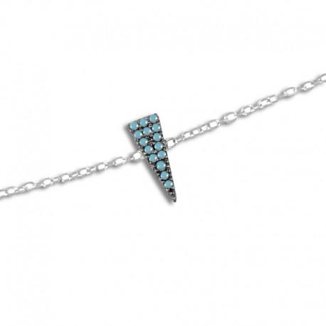 Bracelet argent turquoises