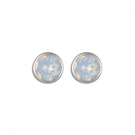 Boucles d'oreilles argent cristal bleu