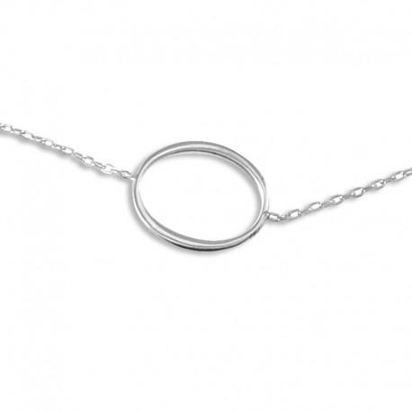 Bracelet argent ovale