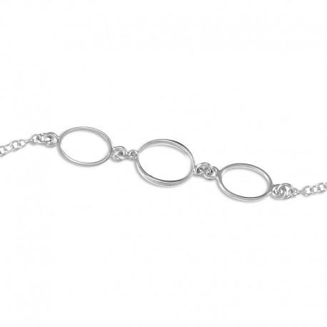 Bracelet argent ovales