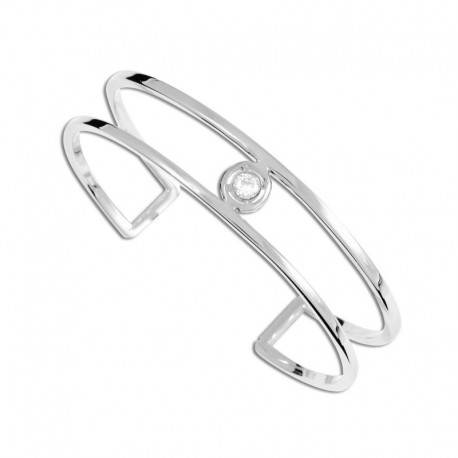 Bracelet acier cristal