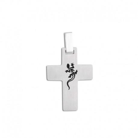 Croix acier avec chaîne