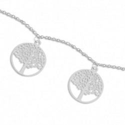 Bracelet acier arbre de vie