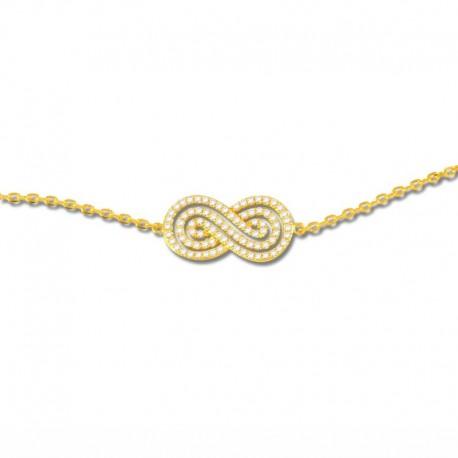 Bracelet plaqué or infini oxydes