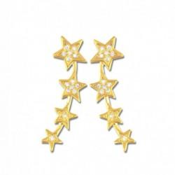 Boucles d'oreilles plaqué or étoiles oxydes