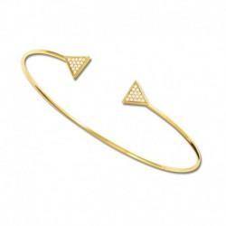 Bracelet plaqué or jonc oxydes