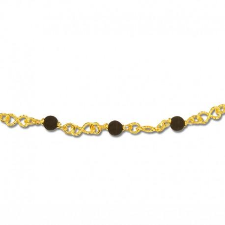 Bracelet plaqué or cristal