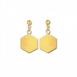 Boucles d'oreilles plaqué or cube