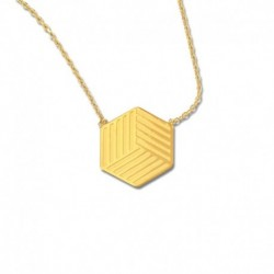 Collier plaqué or cube