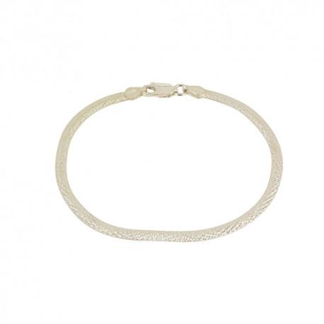 Bracelet argent maille miroir lapidée
