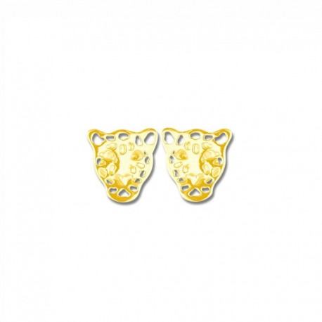 Boucles d'oreilles plaqué or tigre