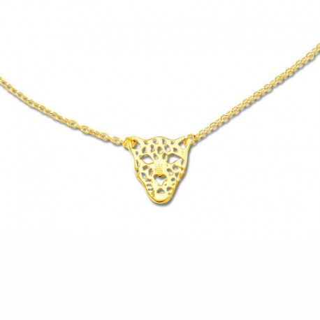 Collier plaqué or tigre
