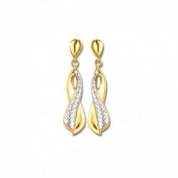 Boucles d'oreilles or 750/1000 bicolore