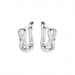 Boucles d'oreilles argent oxydes infini