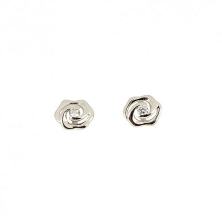 Boucles d'oreilles argent fleur oxydes