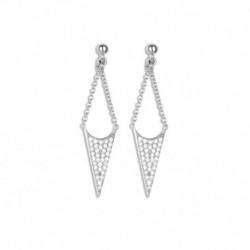 Boucles d'oreilles argent triangle oxydes