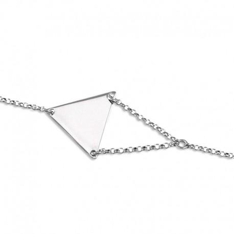 Bracelet argent triangle