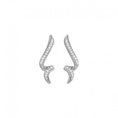 Boucles d'oreilles argent oxydes