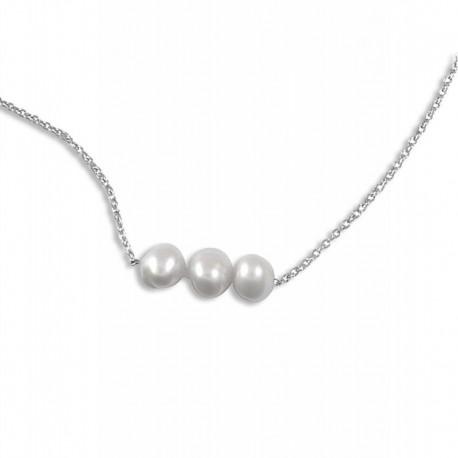 Collier argent perles de culture