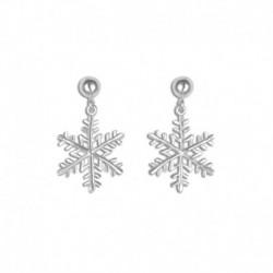 Boucles d'oreilles argent cristal de neige
