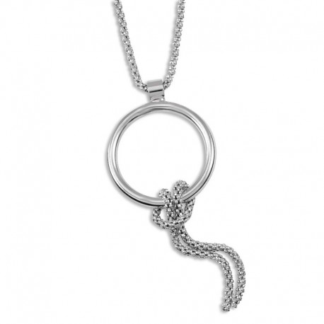 Collier argent avec un anneau