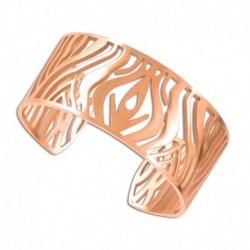 Bracelet manchette acier rose