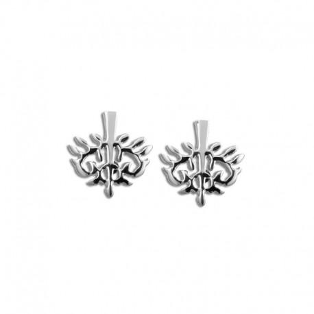 Boucles d'oreilles acier arbre de vie