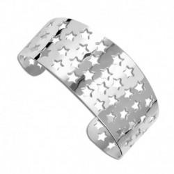 Bracelet jonc acier étoiles